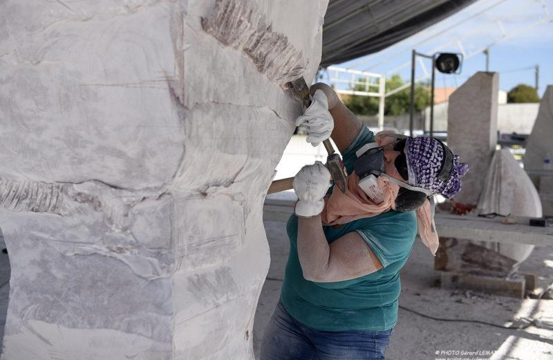 Symposium International de sculpture sur pierre à Julienne - 1