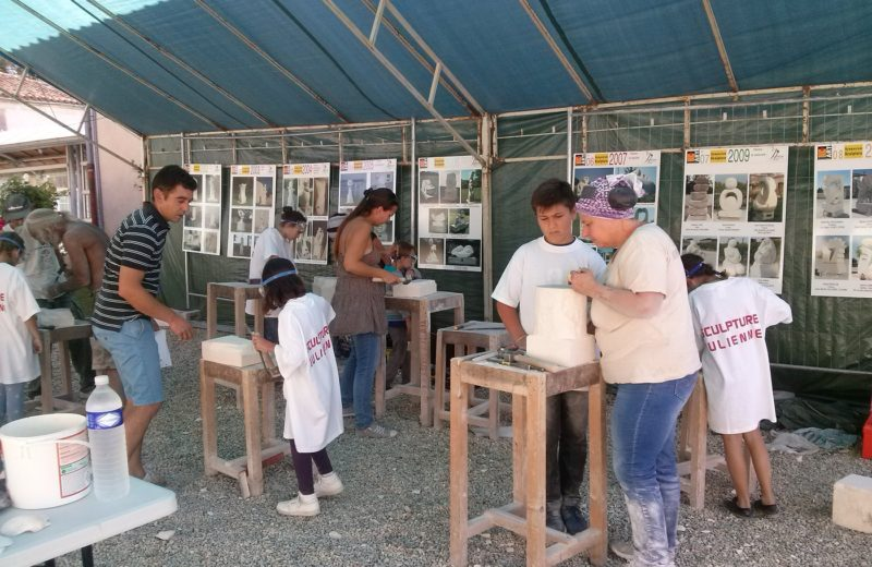 Symposium International de sculpture sur pierre à Julienne - 3