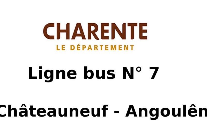 BUS LINE N°7 – CHATEAUNEUF ANGOULEME à CHATEAUNEUF SUR CHARENTE - 0