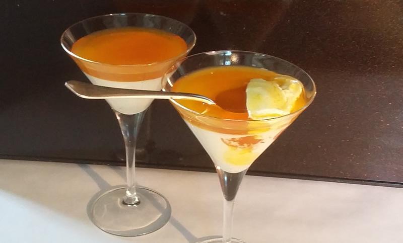 Recette de la Panna Cognac Orange par Françoise Barbin-Lécrevisse