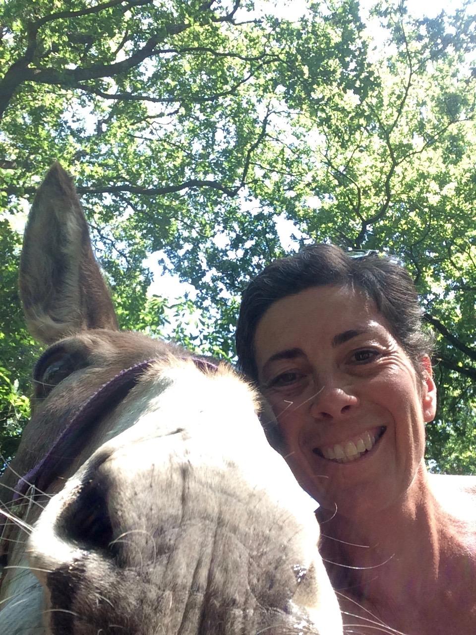 Aude Patry -Les ânes de la rêverie, balades à Saint Césaire
