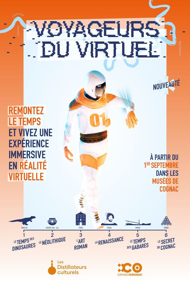 Les voyageurs du viruel dans les musées de Cognac. Casques de réalité vituelle