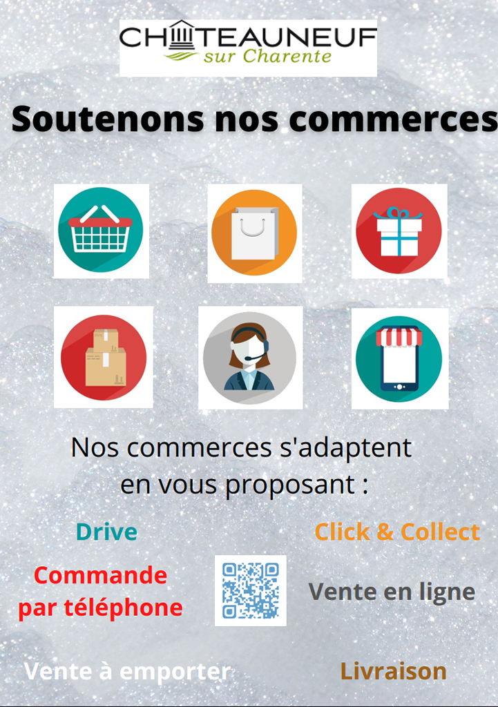 click and collect à Chateauneuf sur charente flashez le qr code