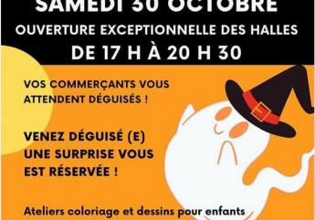 Halles'Oween aux halles de Cognac
