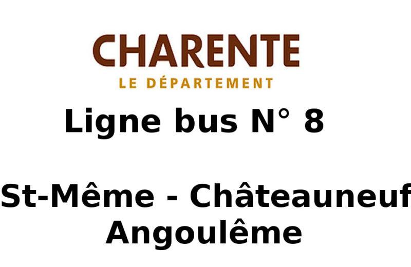 Ligne bus n°8 – St Même Châteauneuf Angoulême à Saint-Même-les-Carrières - 0