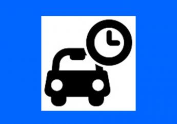 Parking zone bleue