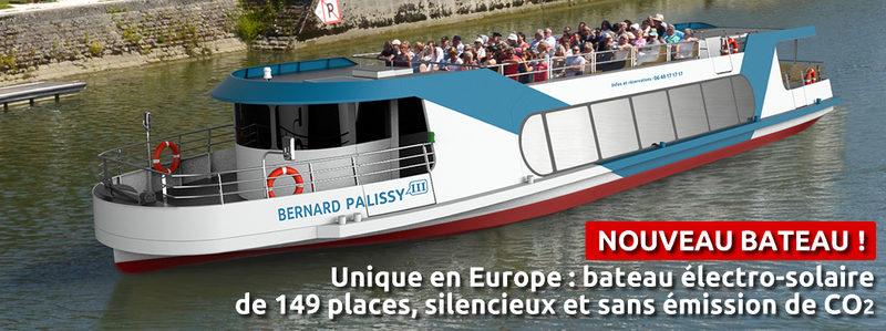 """CROISIÈRES FLUVIALES """"LE BERNARD PALISSY III"""" LES CROISIÈRES CHARENTAISES à SAINTES - 1"""